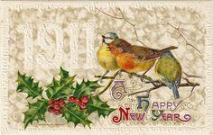 Cartão postal comemorando a passagem de 1910 para 1911.
