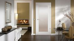 Interior doors are most commonly constructed of MDF, wood, metal or glass. They may be painted or stained. Styles include flush doors, doors with panels and French doors. Glass panels are sometimes incorporated into some interior door styles. Interior doors may be simple, or have intricate designs.