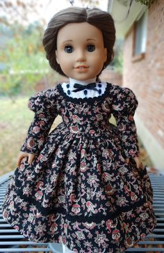 $29.95 Historical Civil War Era Dress, Slip, and Pantalettes by Designed4Dolls on Etsy