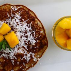 Celebrate summer with these Healthy Mango Pancakes Summer Recipes, Pancakes, Mango, Celebrities, Healthy, Breakfast, Manga, Morning Coffee, Crepes
