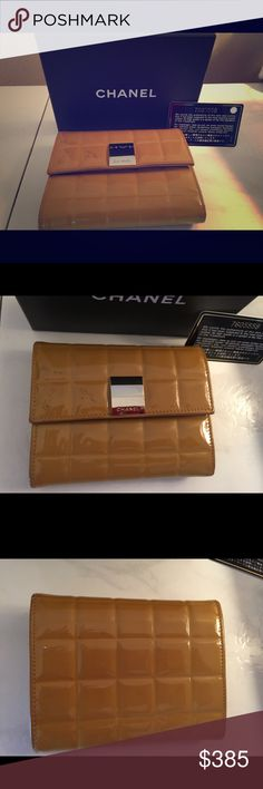 Authentic CHANEL Wallet Beautiful Chanel Classic Chocolate Bar Wallet in Great Condition! Comes with Authenticity Card and Box!  Please see all additional pictures in my closet for full assessment 😊🌺😎👯 on Mer also. Reasonable offers accepted only ☀️🤗👯 CHANEL Bags Wallets