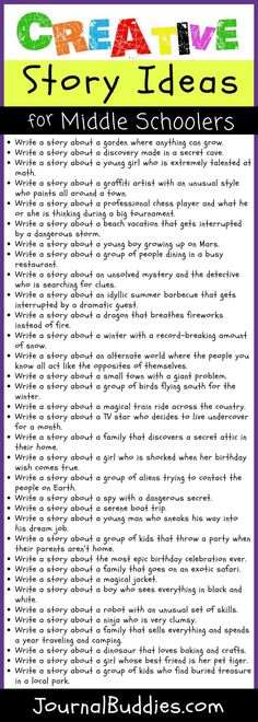 Use these creative story ideas for middle schoolers to get your students excited about the process of fiction writing this year!