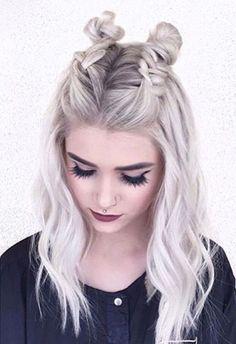 braided buns | half up half down | boho #hairstyles | #festivalhair