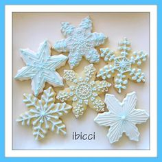 Custom decorated NZ cookies - Snowflakes for 30yo nieces birthday |  www.facebook.com/ibiccinz