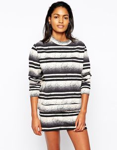 Won Hundred Chloe Sweat Top in Abstract Stripe