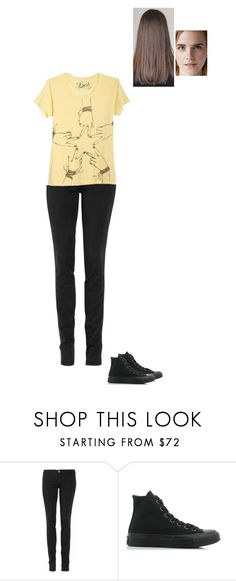 """Sem título #8051"" by gracebeckett on Polyvore featuring moda, TEXTILE Elizabeth and James e Converse"