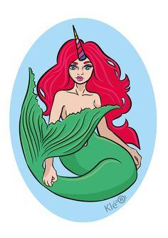 Adobe Illustrator Drawing-Mermaid