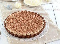 Crostata tiramisù... impossibile resistere a questa delizia!! Biscotti, Cheesecake, Tart, Food And Drink, Sweets, Ethnic Recipes, Desserts, Meringue, Birthday