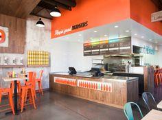 Interior design for 'My Burger Restaurant'
