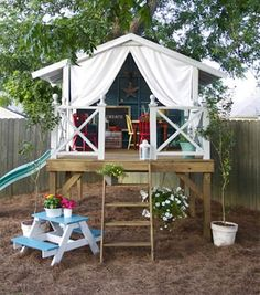 playhouses for kids outdoor | ... here is a selec tion of our favorite out door playhouses for kids