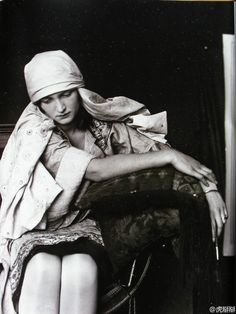 Alphonse Mucha photo of a model