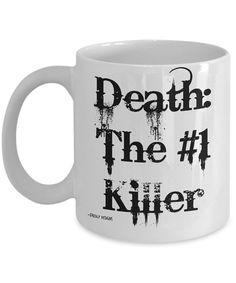 Funny Coffee Mug Death The 1 Killer funny coffee by FredlyDesigns