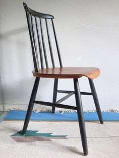 VENDU - chaises tapiovaara scandinave Ilmari fanett finlandais années 60 70 vintage 50