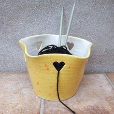Yarn bowl .....knitting or crochet .....hand thrown pottery
