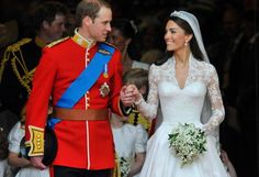"""As far as fairytale weddings go, it doesn't get much better than Kate Middleton and Prince William's big day. Before the world, """"commoner"""" Kate Middleton tied the knot with Prince William at Westminster Abbey in London. Kate walked down the aisle in a Grace Kelly-esque Alexander McQueen lace wedding dress, looking every bit the princess on April 29, 2011."""