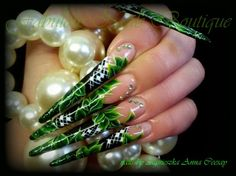 GREEN LEAVES by Agusia - Nail Art Gallery nailartgallery.nailsmag.com by Nails Magazine www.nailsmag.com #nailart
