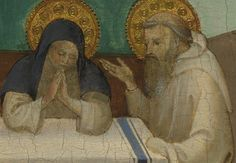 St. Benedict and St. Scholastica at their last meeting