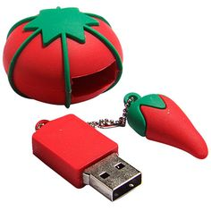 Tomato Pin Cushion USB Drive by ISewCheap on Etsy, $16.99