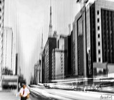 blur, motion, LE, nd filter, street, b&w, avenida paulista, sao paulo