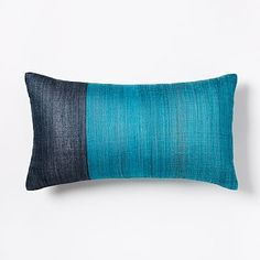 Sari Silk Pillow Cover - Blue Teal #westelm