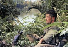 Rick Holmes of C company, 2nd battalion, 503rd infantry, 173rd airborne brigade, sits down on January 3, 1966. ~ Vietnam War