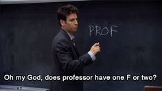 ted's first day as a professor - lol