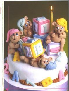 Cute for a baby shower. Teddy Bear Party, Teddy Bear Cakes, Fancy Cakes, Cute Cakes, Crazy Cakes, Baby Shower Cakes, Baby Shower Parties, Gorgeous Cakes, Amazing Cakes