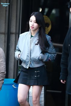 Music Bank Intermediate Before Wee Chae Young Kpop Girl Groups, Korean Girl Groups, Kpop Girls, Chaeyoung Twice, Seolhyun, Extended Play, South Korean Girls, Leather Skirt, Mini Skirts