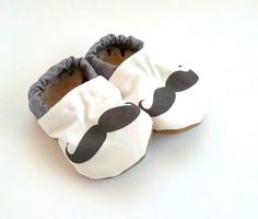 Too cute! Scooter Booties Mustache Baby Shoes