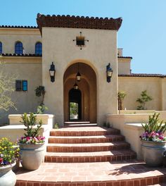 Custom Mediterranean Style with Red Brick Concrete Outdoor Pergola Patio Covers Pavers Ideas