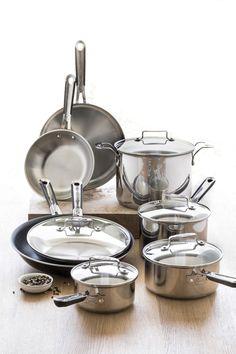 "@Emeril Lagasse  12-pc. stainless steel cookware set with bonus 12"" pan"