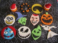 Nightmare Before Christmas Cupcake Toppers | Flickr - Photo Sharing!