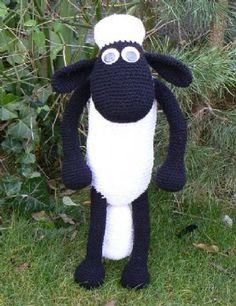 """""""PATRÓN GRATIS"""" Shaun the Sheep Modelo del ganchillo"""