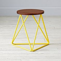 Eric Trine Linear Yellow Stool | The Land of Nod
