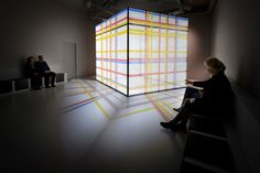 Video installation 'New York' of the Renewed House of Mondrian. Tinker created the multimedia concept and a new design for the interior that refers to his entire oeuvre. Photography (c) Mike Bink