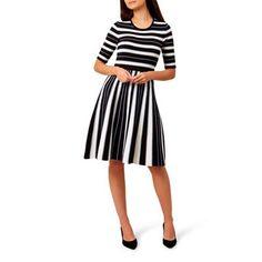 f0ba7be27e Hobbs Multicoloured striped  Clara  knee length skater dress