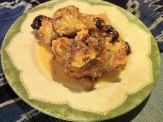 Cinnamon-Cherry Bread Pudding with Rum Sauce