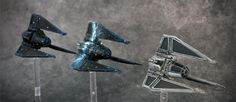 Cloaking, Conversion, Custom, E-wing, Painting, Tie Fighter, Tie Phantom, X-Wing