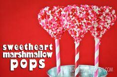 Valentine Marshmallow Pops. Favorite Recipes of 2013.  #Valentines