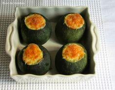 Calabacines luna rellenos de carne y verduras