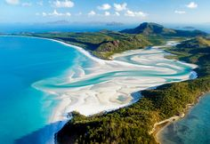 Whitehaven Beach Australia. If you work for Hamilton Island, you're treated to a huge staff party on this island. No guests to bother you and get as messy as you like!