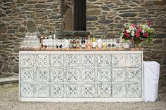 Copper Top Antique Tin Bar