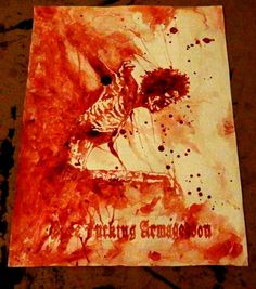 Tribute To Mayhem painted with my own blood by priestofterror