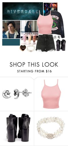 """'' One milkshake please '' Riverdale"" by arrowette-845 ❤ liked on Polyvore featuring Itsy Bitsy, LE3NO, Cheap Monday, Tara and Alexander Wang"