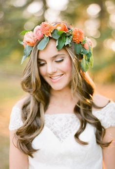 Flower Crowns for Your Wedding — Wedding Hairstyles with Floral Crowns | Brides