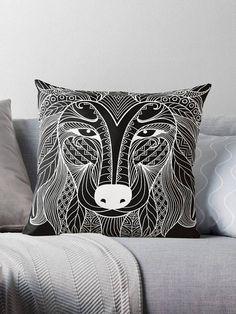 Wolf tattoo black cover pillow / pillow design cushion 46 Tattoo Black, Black Cover, Cover Pillow, Pillow Design, Wolf, Throw Pillows, Art, Cushions, Toss Pillows