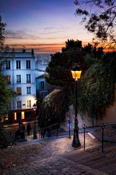 Steps in Montmartre - Paris, France
