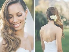 Wedding Hairstyles: Side Swept Waves Inspiration And Tutorials Wedding Hair Side, Vintage Wedding Hair, Wedding Hair And Makeup, One Shoulder Wedding Dress, Bride Hairstyles, Down Hairstyles, Side Swept, Medium Hair Styles, New Hair