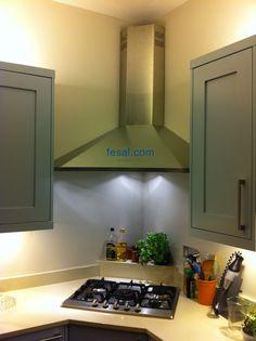 Falmec Design Elios Wall Corner Kitchen Hood