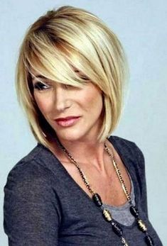 Top Hairstyles For Women Over 50 in 2019 - My list of women's hairstyles Over 40 Hairstyles, Haircuts For Fine Hair, Short Hairstyles For Women, Straight Hairstyles, Layered Bob Hairstyles, Short Haircuts, Pretty Hairstyles, Medium Haircuts, Hairstyles Haircuts